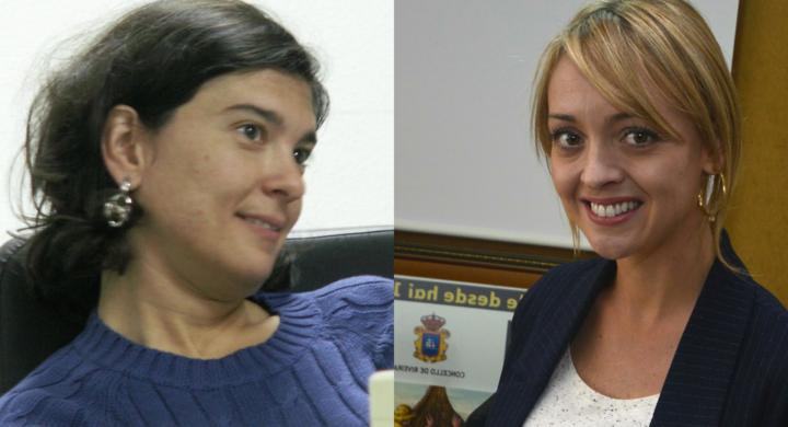 Anxela López e Fabiola Martínez