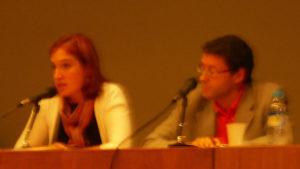 Pilar Couce directora da FUNGA e Modesto Rouco subdirector Xeral de Discapacidade