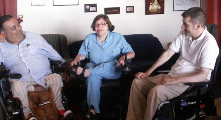 De esquerda a dereita Manuel Lobato, Judith Heumann e Antón Novoa