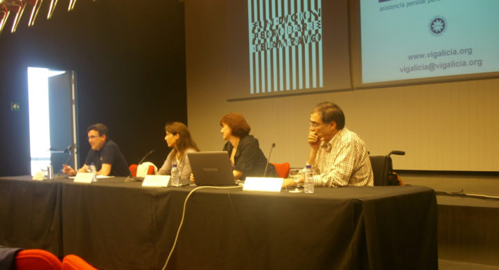 De esquerda a dereita: Cecilio García, Mónica Sumay, Cuca da Silva e Juan José Maraña