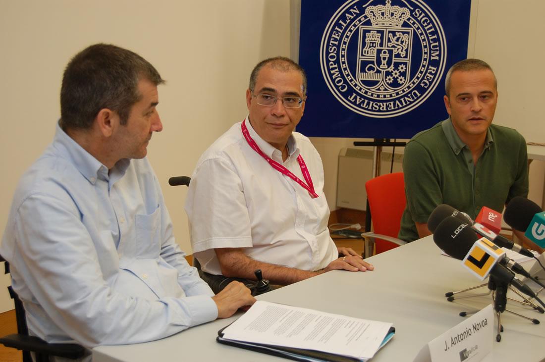 José Antonio Novoa, Juan José Maraña e Javier Agrafoxo