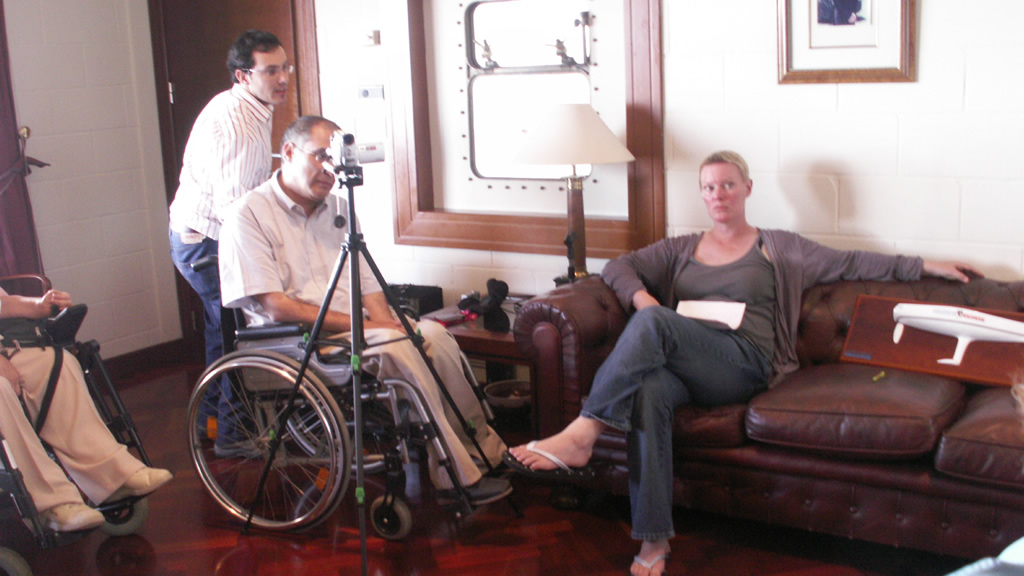 Membros de vigalicia durante a entrevista
