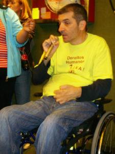 Antón Novoa durante unha das súas intervencións