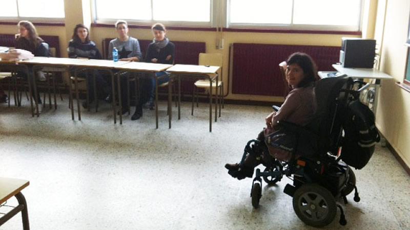 Anxela López durante a charla