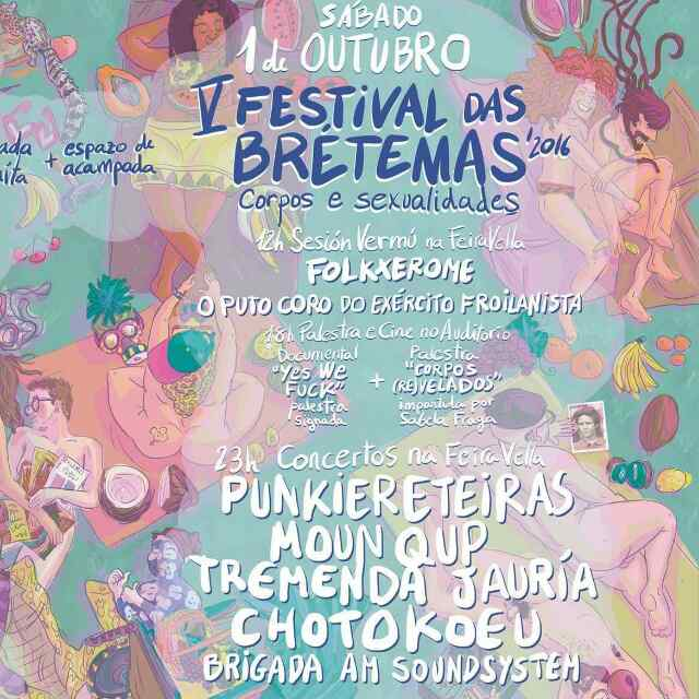 Cartel do festival das brétemas