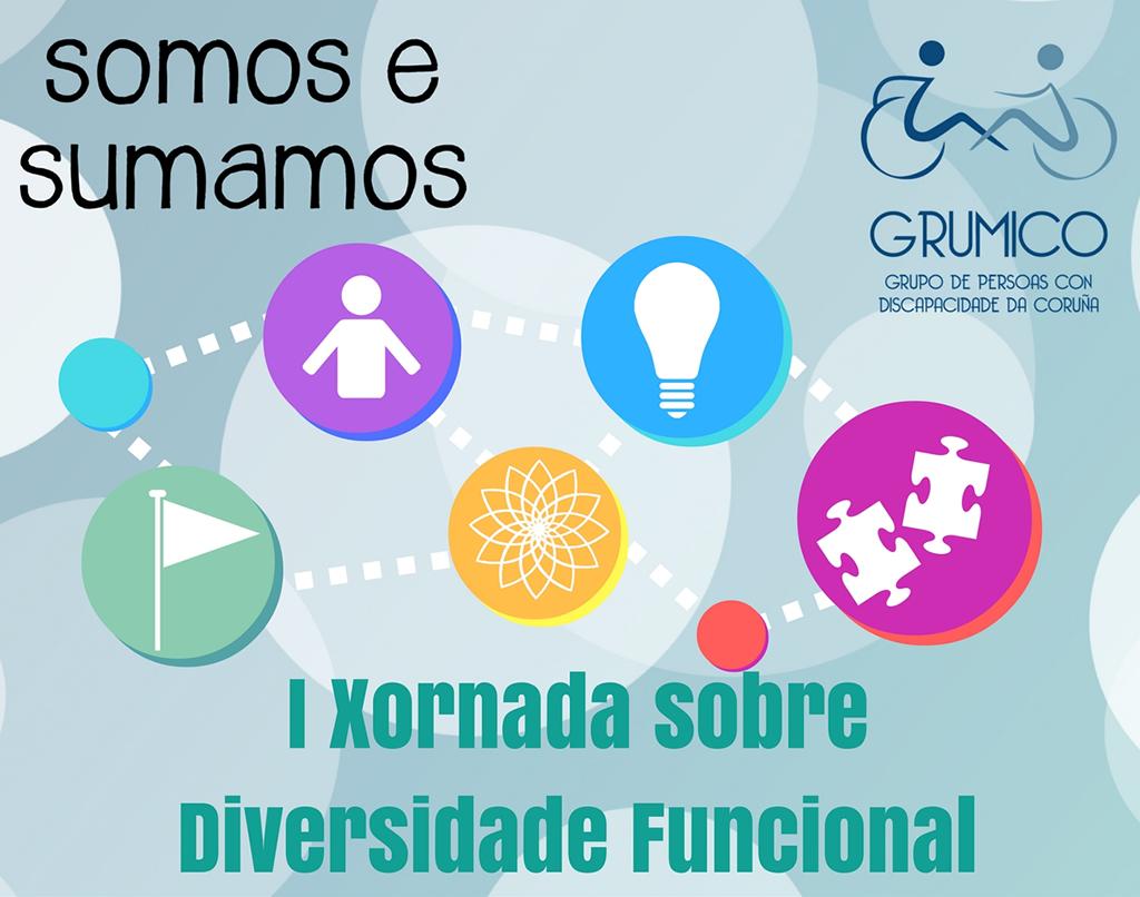 Cartel da I Xornada de Diversidade Funcional 'Somos e sumamos'
