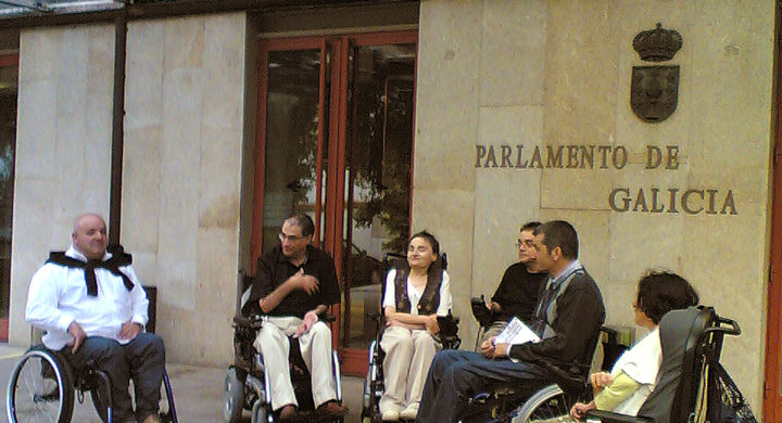 Membros de VIgalicia momentos antes da reunión