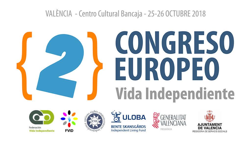 Cartel del segundo congreso sobre vida independiente