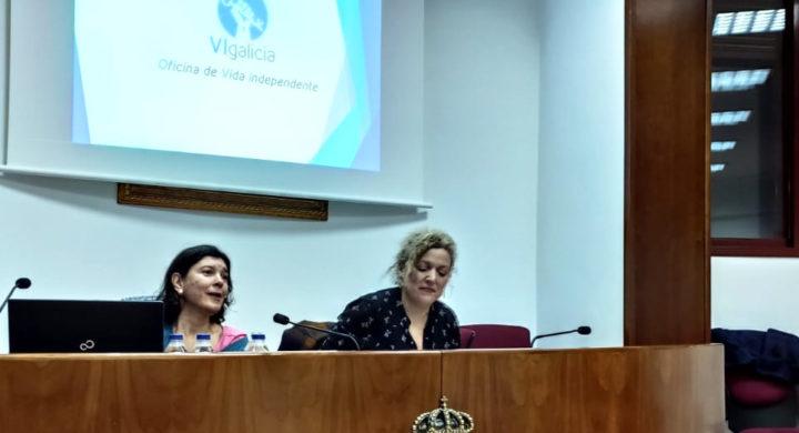 Anxela López Leiceaga durante a charla